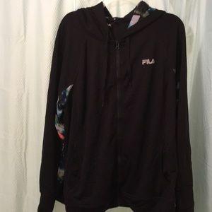 FILA Plus Size women's athletic zipper hoodie